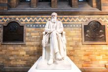 Sir Charles Darwin Statue At T...