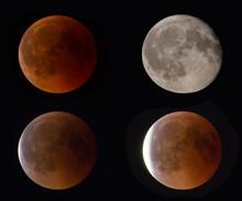 COLOGNE, GERMANY - July 27, 2018 - Blood Moon - Lunar Eclipse