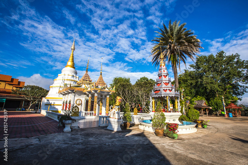 Deurstickers Bedehuis Phayao: December 31, 2017, the atmosphere of Buddhist temple at Wat Phra Nang Din Wiang, Chiang Kham, Thailand.