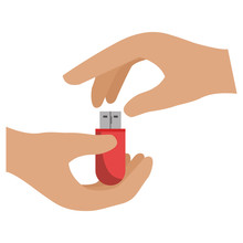 Hands With Usb Memory