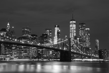 Brooklyn Bridge And Downtown S...