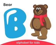 Blue Letter B And Brown Bear. ...