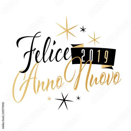 Felice Anno Nuovo 2019 Kaufen Sie Diese Vektorgrafik Und Finden