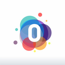 Colorful Number Zero Logo Template Designs, Number Symbol Icon Vector