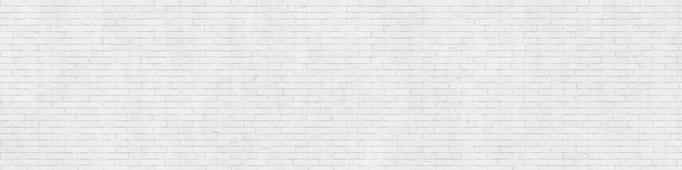 White brick wall texture, background, wallpaper