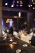 Banquet de mariage et bougies