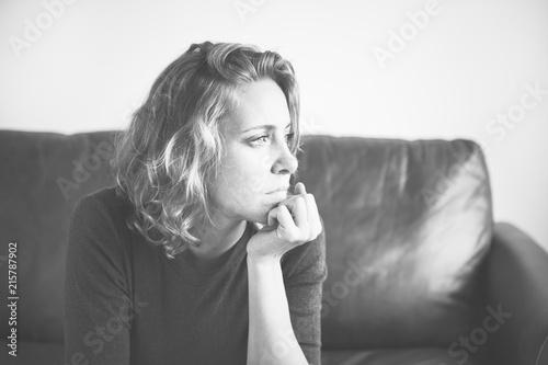 Obraz A person suffering from depression - fototapety do salonu