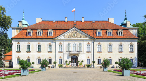 Baroque Palace of Radziwill family in Nieborow in Poland