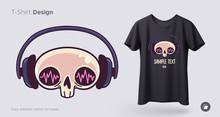 Skull In Headphones T-shirt De...