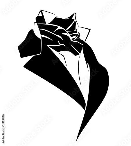 Valokuvatapetti vintage style black necktie costume - 19th century male fashion vector design