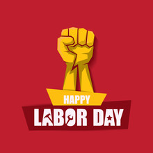 Labor Day Usa Vector Label Or ...