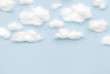 canvas print picture - The background of sky and clouds In shades of pastel blue tones.