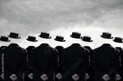 Obraz Group of men without heads - fototapety do salonu