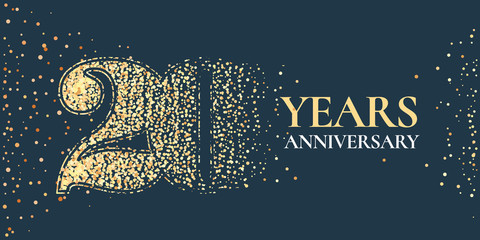 20 years anniversary celebration vector icon, logo