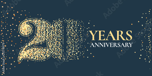 Photo  20 years anniversary celebration vector icon, logo