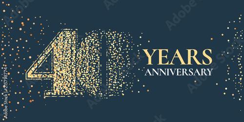 Tela  40 years anniversary celebration vector icon, logo