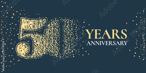 Fotografia  50 years anniversary celebration vector icon, logo