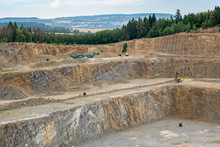 Opencast Mining Quarry With Lo...