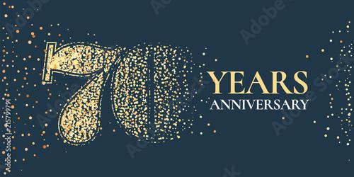 Fototapeta  70 years anniversary celebration vector icon, logo