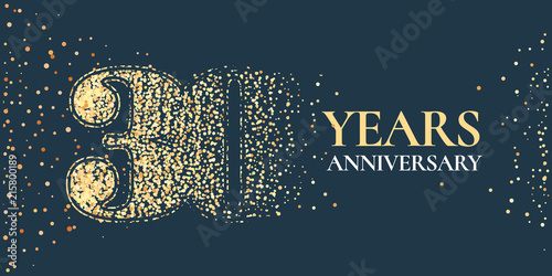 Fényképezés  30 years anniversary celebration vector icon, logo