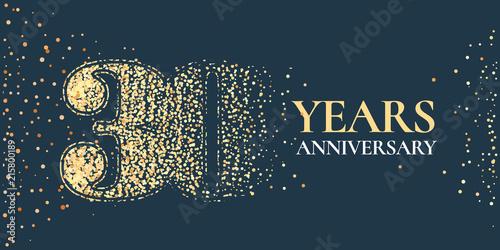 Papel de parede 30 years anniversary celebration vector icon, logo