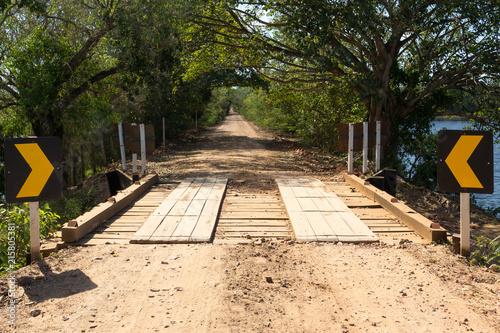 Fotografija  Estrada Parque do Pantanal dirt road, Mato Grosso do Sul, Brazil