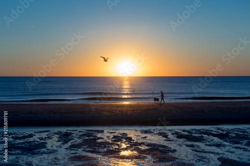 Keuken foto achterwand Noordzee Sonnenuntergang an der Nordsee