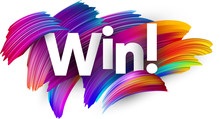 Win Paper Poster With Colorful...