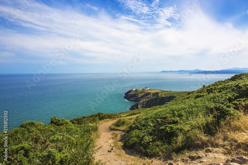 Howth Head with Baily Lighthouse Canvas Print