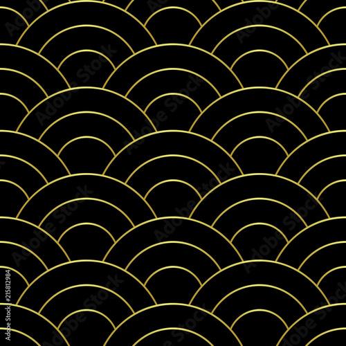 zlote-fala-abstrakcjonistyczny-bezszwowy-wzor