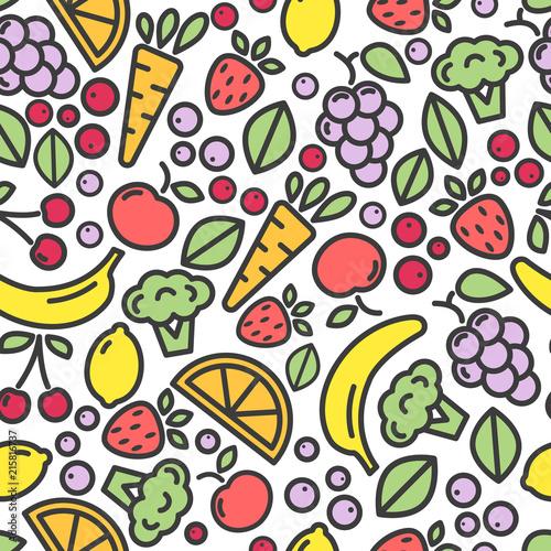 wektorowy-bezszwowy-deseniowy-skladac-sie-z-kolorowe-ikony-owoc-i-warzywo-na-bialym