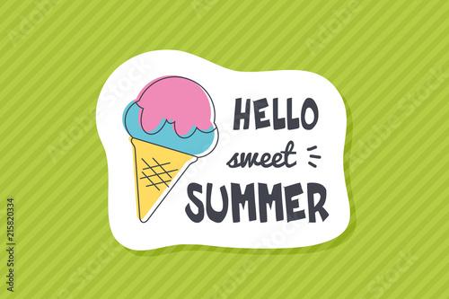 Summer poster card. Hello sweet summer © nasik