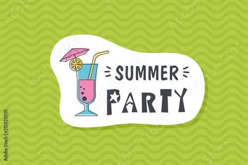 Summer poster card. Summer party © nasik