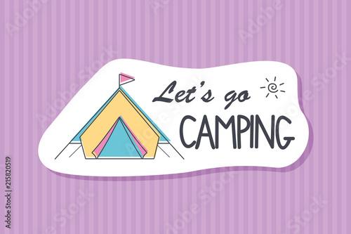 Summer poster card. Lets go camping © nasik
