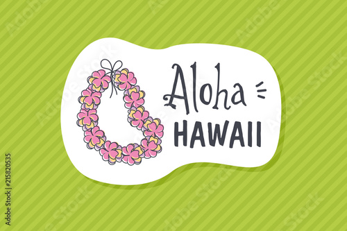 Summer poster card. Aloha Hawaii © nasik