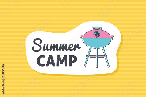 Summer poster card. Summer camp © nasik