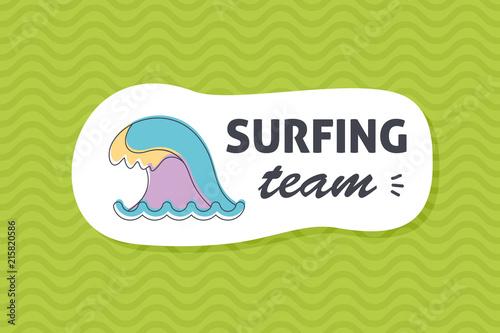 Summer poster card. Surfing team © nasik