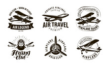 Aircraft, Airplane Logo Or Lab...