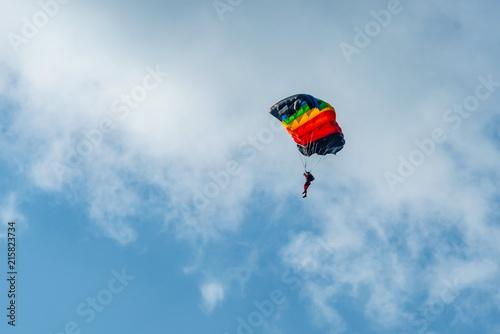 Foto op Canvas Luchtsport parachute in sky