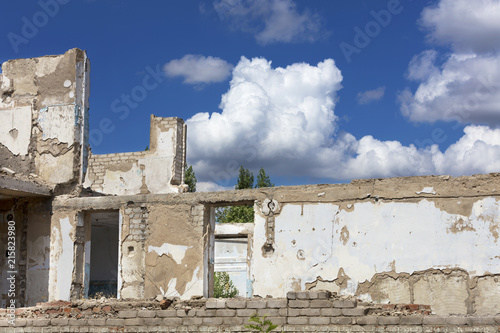 The result of the arrival of the russian world on the territory of Ukraine Wallpaper Mural