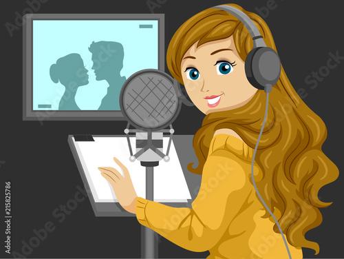 Leinwand Poster Teen Girl Voice Actor Illustration