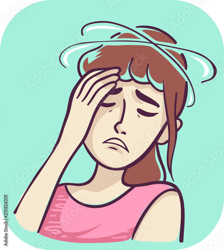 Fotografia  Symptom Lightheadedness Illustration
