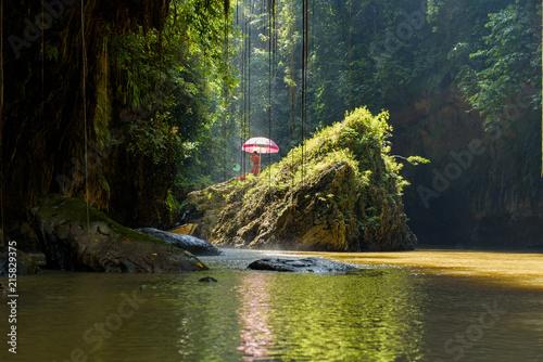 Green Canyon, Pandagaran, Java Central, Indonesia. Canvas Print