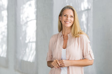 Smiling Mature Woman Standing