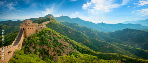 Spoed Fotobehang Asia land Great wall of China