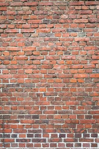 Photo  Old worn brick wall exterior pattern texture background