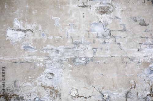 Foto auf AluDibond Alte schmutzig texturierte wand Damaged grey concrete wall exterior background texture