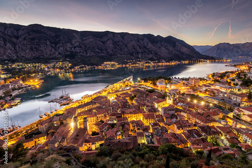 Spoed Foto op Canvas Lavendel Kotor great city in Montenegro