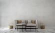 Leinwanddruck Bild - Modern luxury living room interior design and concrete texture wall pattern background