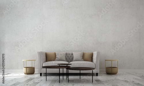 Obraz Modern luxury living room interior design and concrete texture wall pattern background  - fototapety do salonu